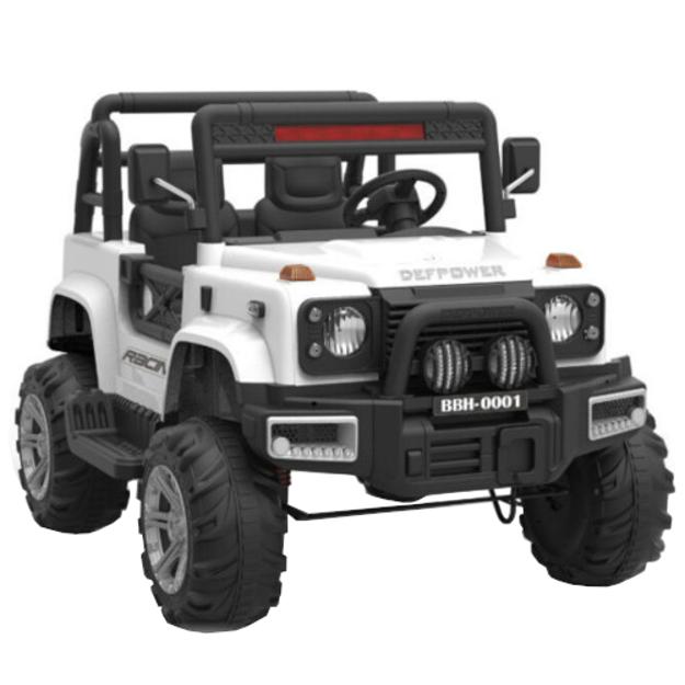 Poza cu Masinuta Electrica Jeep Defpower cu 2 Locuri, Telecomanda si Functie MP3,Alb