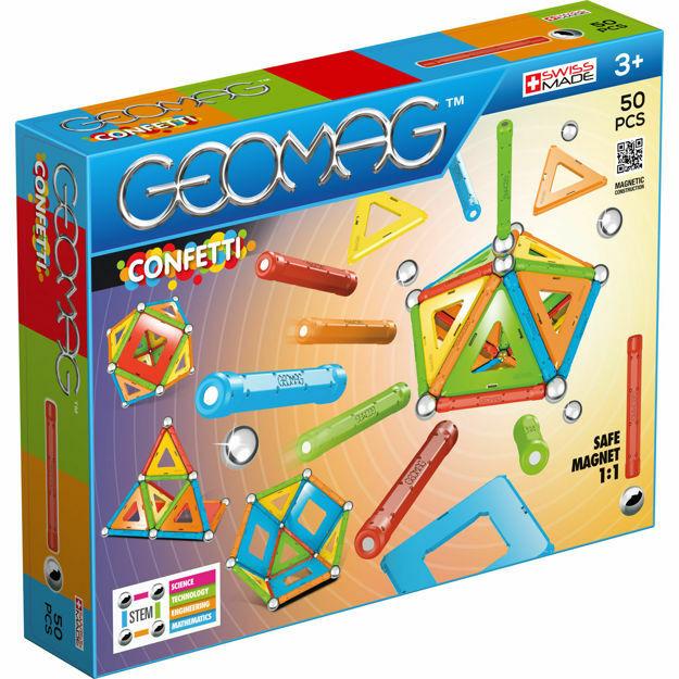 Picture of Set de constructie magnetic Geomag, Confetti, 50 piese