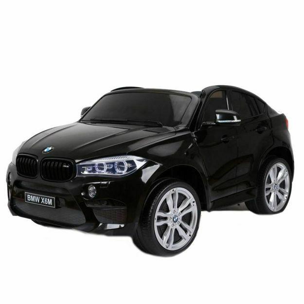 Poza cu Masinuta electrica BMW X6 M XXL Black cu doua locuri si telecomanda 2.4 Ghz