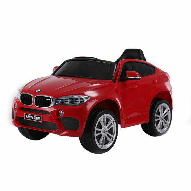Poza cu Masinuta electrica cu roti de cauciuc BMW X6M Red JJ2199