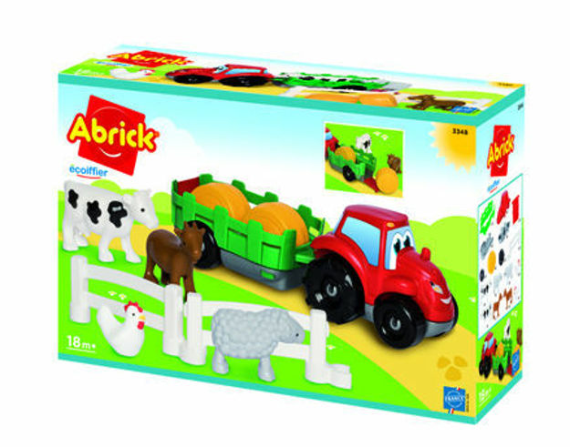Picture of Abrick tractor cu remorca cu 8 animalute