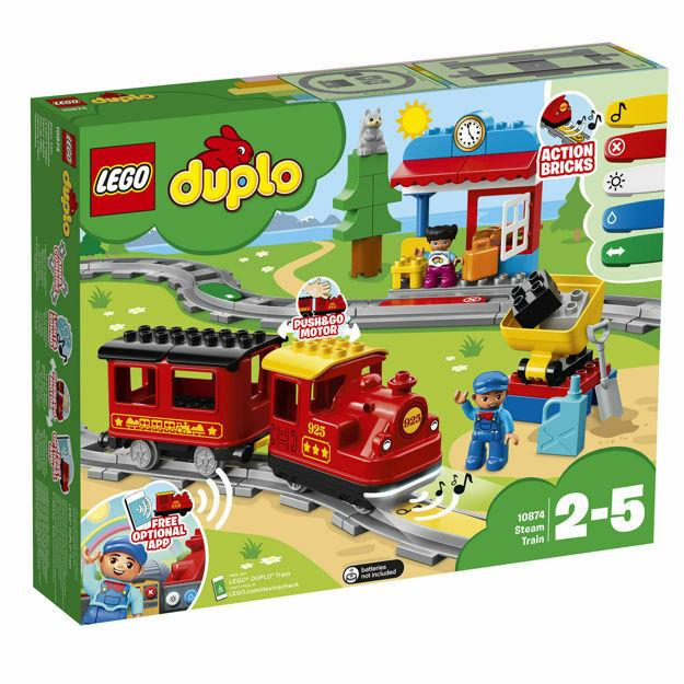 Poza cu LEGO DUPLO - Tren cu aburi 10874