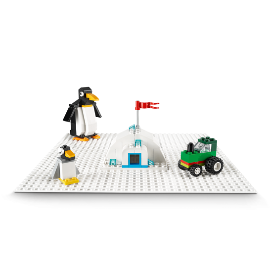 Poza cu LEGO Classic - Placa de baza alba 11010