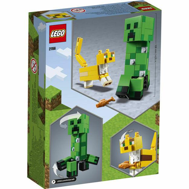 Picture of LEGO Minecraft - Creeper BigFig si Ocelot 21156