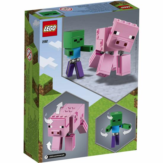 Снимка на LEGO Minecraft - Porc BigFig cu bebelus de zombi 21157
