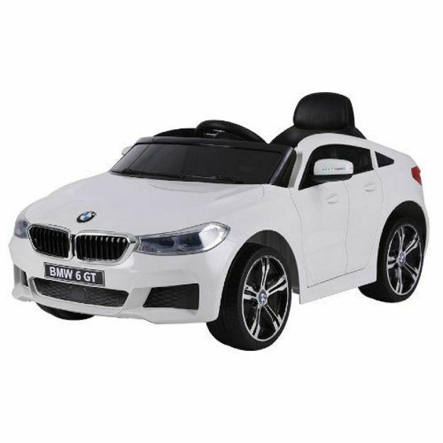 Poza cu Masinuta Peak Toys Electrica BMW 6 GT cu Telecomanda si Functie MP3, Alb