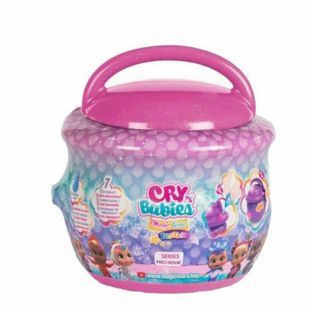 Poza cu Papusa in Cutiuta Cry Babies Magic Tears Seria Paci House Roz