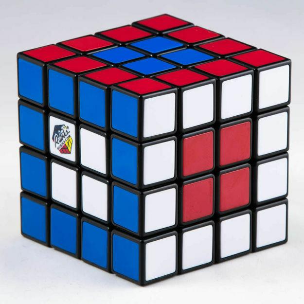 Poza cu Cub Rubik in cutie albastra, 4x4x4