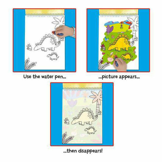 Снимка на Galt Water Magic: Carte de colorat Dinozauri