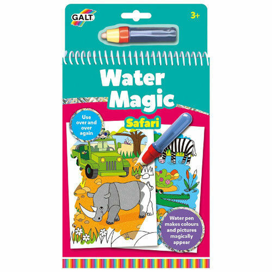 Poza cu Water Galt Magic Animals - Carte Colorat Safari