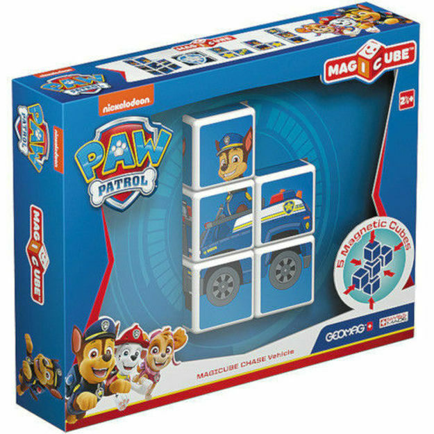 Picture of Set de constructie magnetic Geomag, Magicube - Paw Patrol, Chase