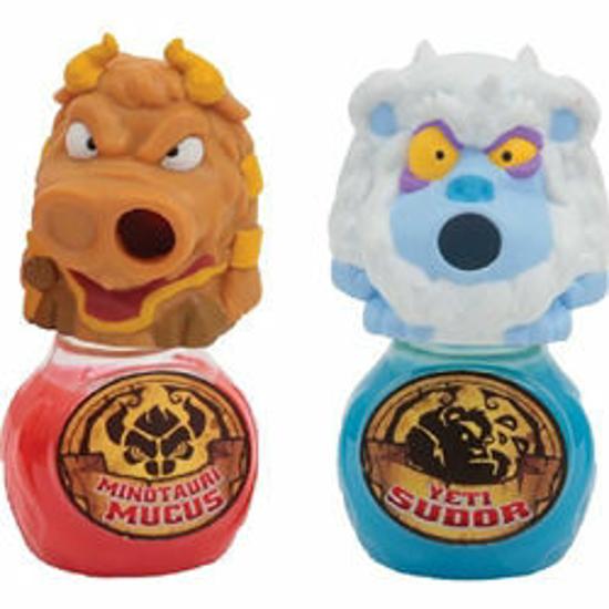 Poza cu Set 2 Figurine Gloopers Yeti Sudor si Minotauri Mucus cu Slime