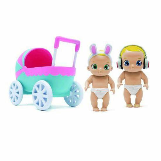 Снимка на Set de Joaca Baby Secrets cu Cadita, Carucior si 3 Figurine Bebelus