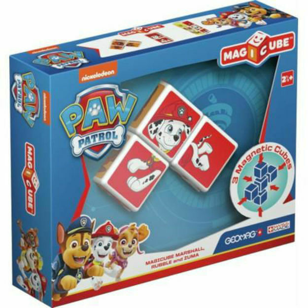 Picture of Set Constructie Magnetic Magicube Paw Patrol Marshall, Rubble si Zuma