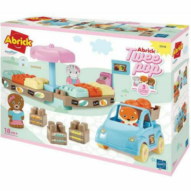 Picture of Joc de Construit Piata Twee Pop Abrick cu Masina si 3 Figurine