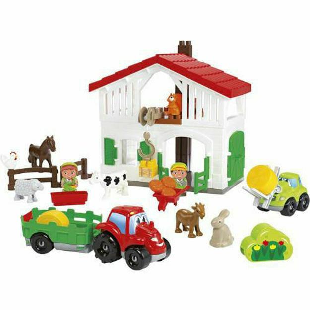 Picture of Set Cuburi de Construit Ferma cu Tractor si Animale Abrick