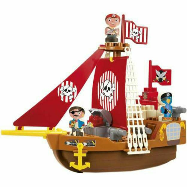 Picture of Set Cuburi de Construit Barca Piratilor Abrick