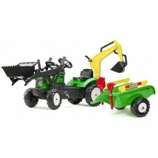 Picture of Tractoras Ranch cu Excavator, Cupa, Remorca, Forme Nisip si Accesorii