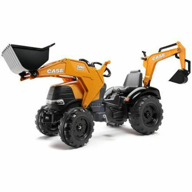 Picture of Tractor Case IH 580 Super N cu Excavator si Cupa