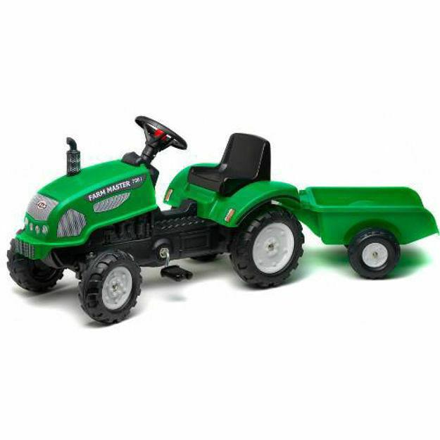 Picture of Tractor cu Pedale si Remorca Farm Master 720i Verde