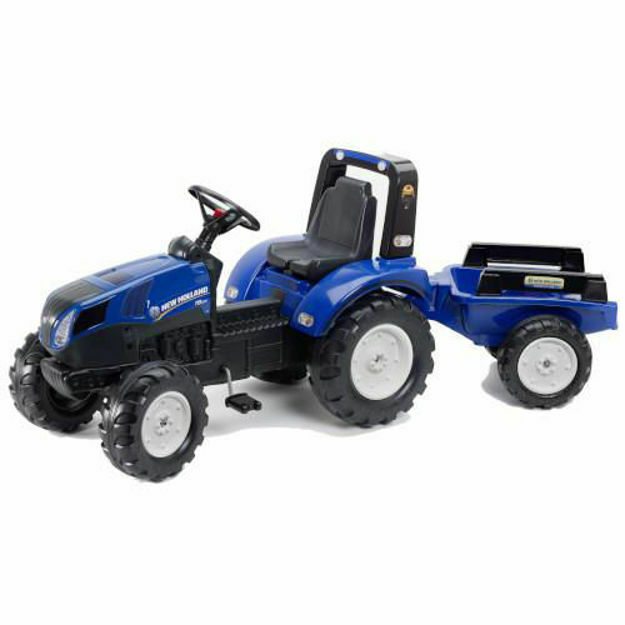 Picture of Tractor New Holland cu Pedale si Remorca