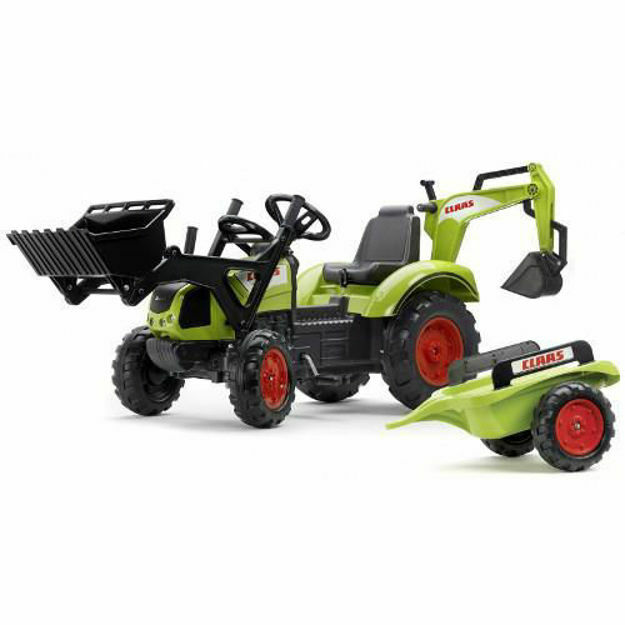 Picture of Tractor cu Pedale Claas Arion 430 cu Cupa, Excavator si Remorca