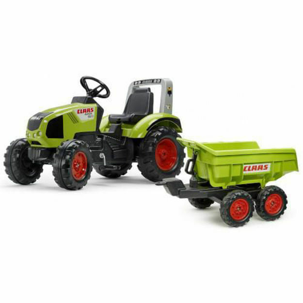 Picture of Tractor cu Pedale Claas Axos 330 cu Remorca Maxi