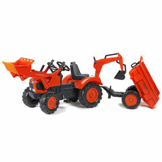 Снимка на Tractor cu Pedale Kubota cu Cupa, Remorca, Excavator si Scaun Rotativ