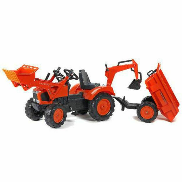 Picture of Tractor cu Pedale Kubota cu Cupa, Remorca, Excavator si Scaun Rotativ