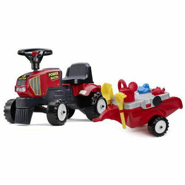 Picture of Tractoras Baby Power Master cu Remorca, Forme Nisip, Lopata, Grebla si Stropitoare