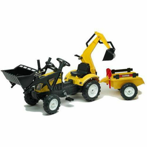 Picture of Tractoras Constructor cu Excavator, Cupa, Remorca, Forme Nisip si Accesorii