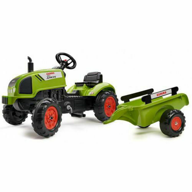 Picture of Tractor Claas Arion 410 cu Pedale si Remorca