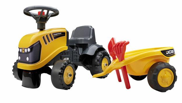 Picture of Tractor falk JCB cu remorca lopata si grebla
