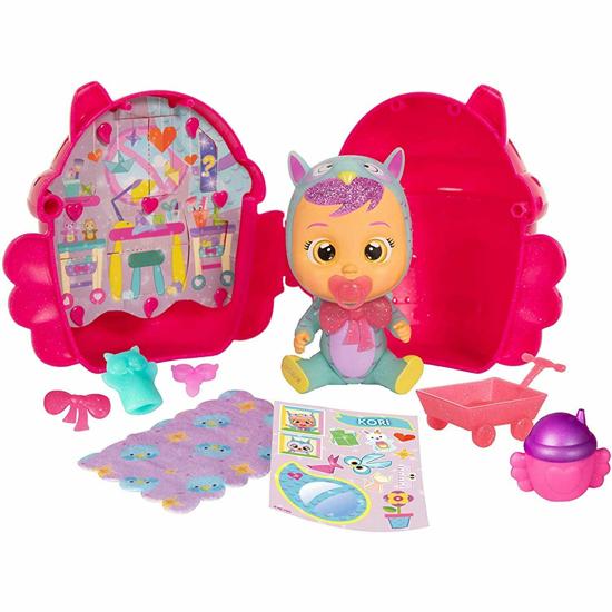 Снимка на Papusa bebelus, IMC Toys Wow mini Cry Babies model House of the Winged cu 6 accesorii stralucitoare, roz