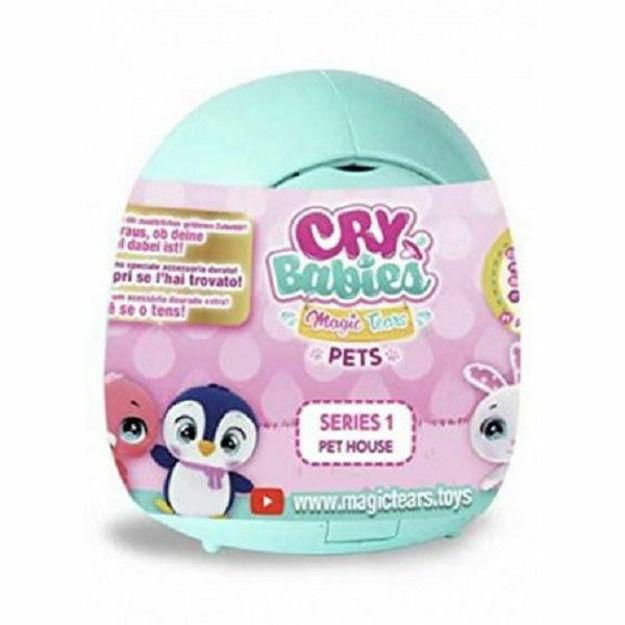 Poza cu Mini figurina in mini cutiuta, 9 cm, IMC Cry Babies Magic PETS turcoaz