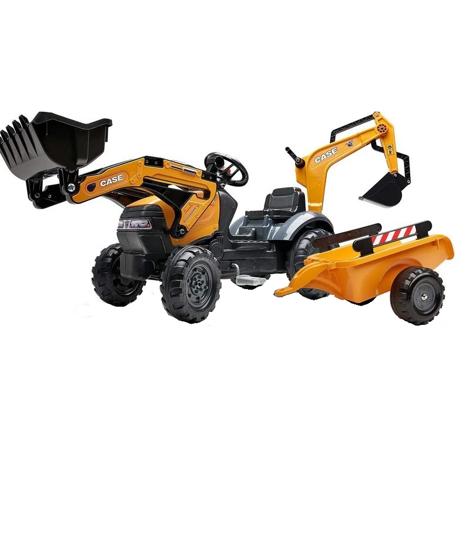 Снимка на Tractor cu pedale pentru copii FALK 967N cu incarcator, excavator si siding