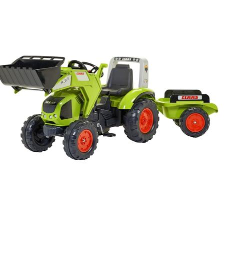 Снимка на FALK Tractor cu pedale Claas Axos 330 cu cupa si remorca, 1011AM