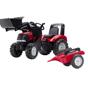 Poza cu FALK - Tractor cu pedale pentru copii Case IH Puma 240CVX cu incarcator si remorca 996AM