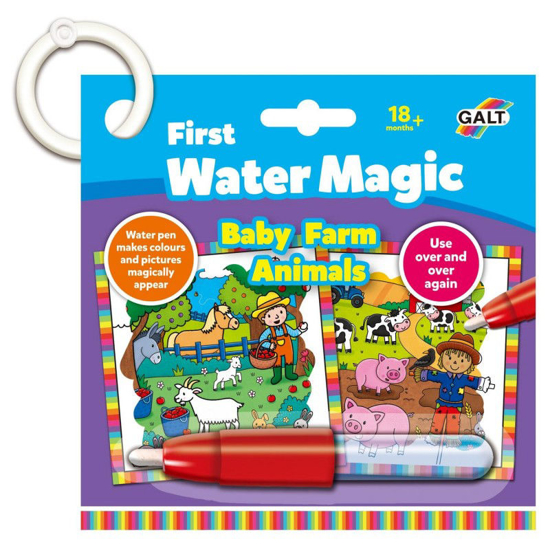 Снимка на Jucarie interactiva carticica Water Magic Animalutele de la ferma Galt, 18 x 18 cm, 6 imagini, 18 luni+