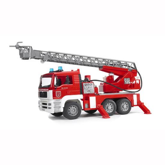 Poza cu Camion de pompieri Bruder MAN cu pompă de apă efecte sonore și luminoase 02771