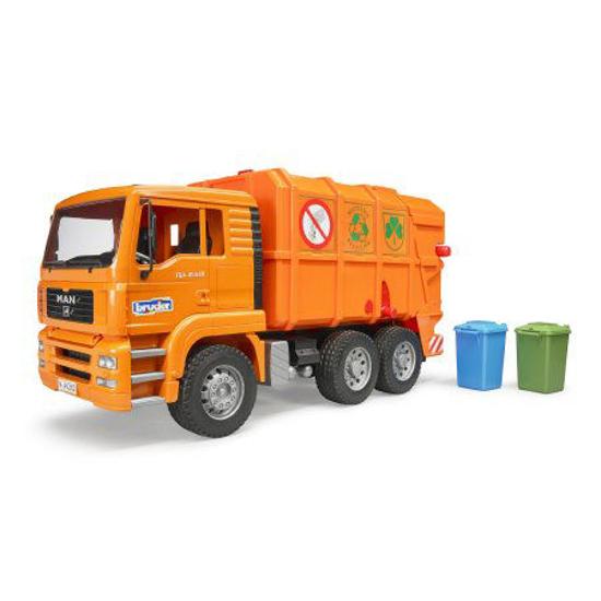 Снимка на Camion de gunoi Bruder MAN portocaliu 02760