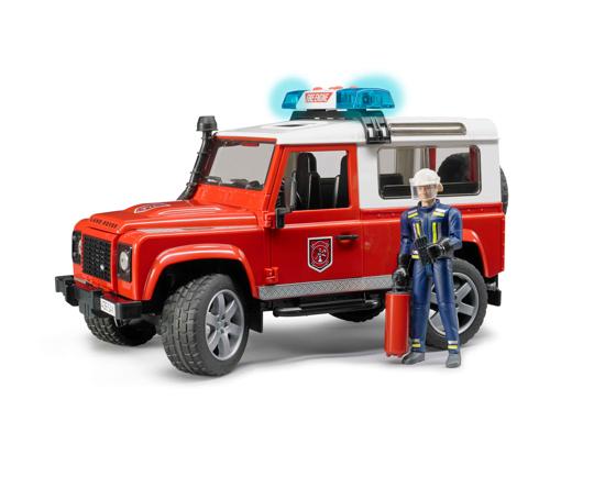 Poza cu Camion de pompieri Bruder Land Rover Defender cu stingător 02596