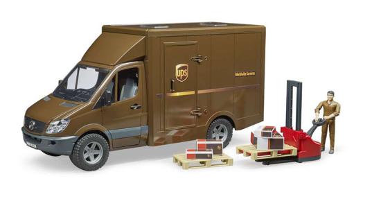 Poza cu Camion UPS Bruder MB Sprinter cu șofer și accesorii 02538