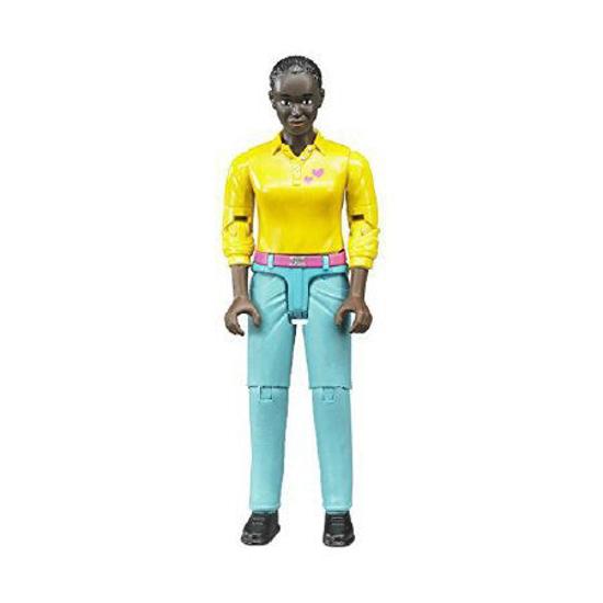 Poza cu Bruder Bworld Femeie cu piele închisă în pantaloni turcoaz 60404