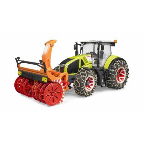 Poza cu Tractor Bruder Claas Axion 950 cu lanț de zăpadă și tun de zăpadă 03017