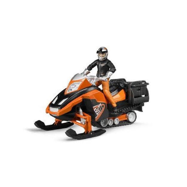 Poza cu Bruder Bworld Snowmobil cu șofer și echipament 63101
