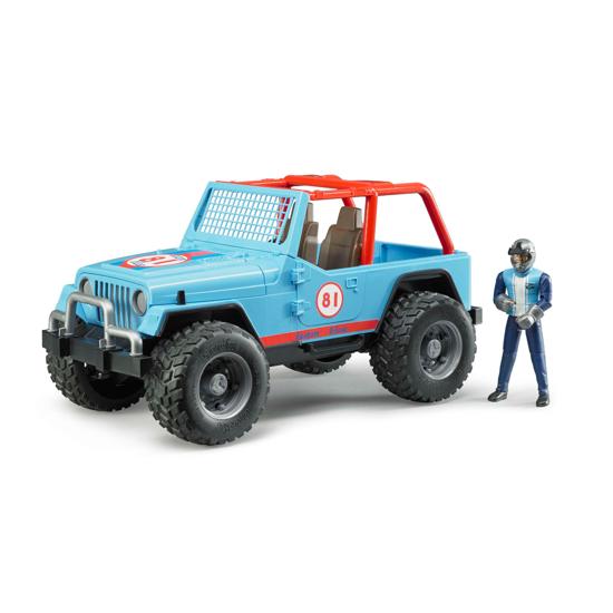 Снимка на SUV Bruder Jeep Cross albastru cu șofer 02541