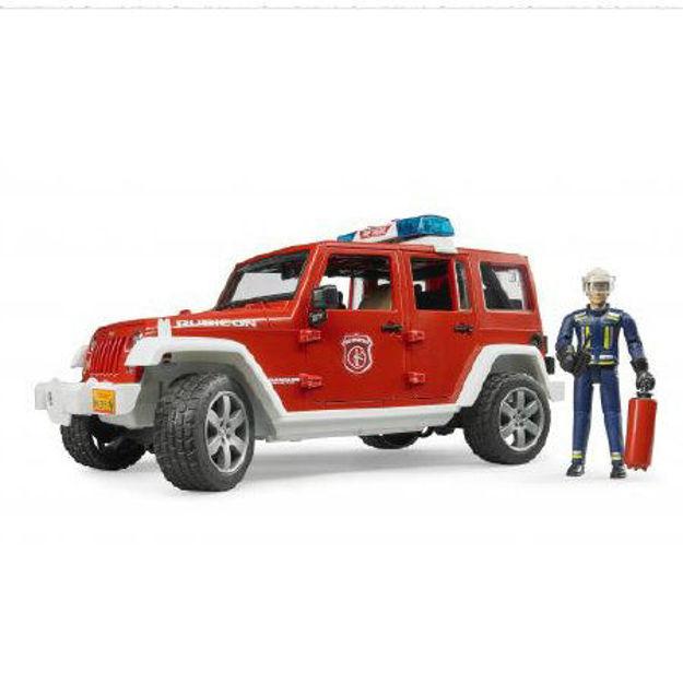 Poza cu Camion de pompieri Bruder Jeep Rubicon cu stingător 02528