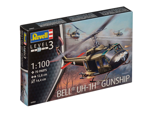 Poza cu 4983 Revell Bell UH 1H Gunship 1: 100 4983