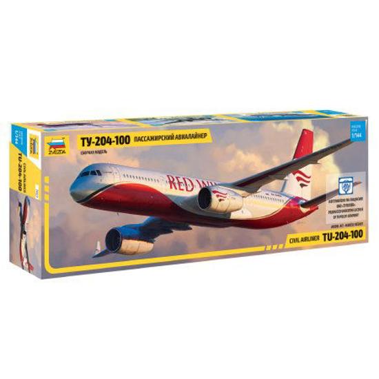 Poza cu Zvezda Tupolev TU 204/100 1: 144 7023